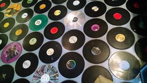 Vinyl Record Floor