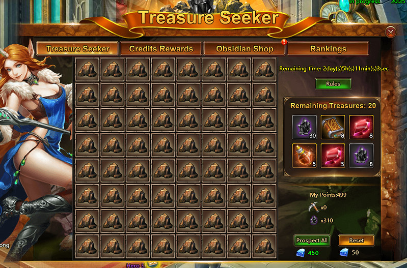 loa2 treasure seeker board