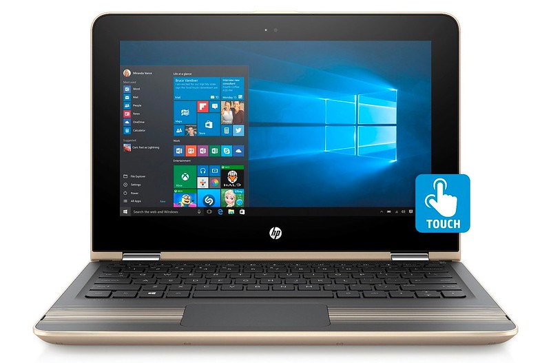 HP Pavilion x360 - Modern Gold - Laptop Mode