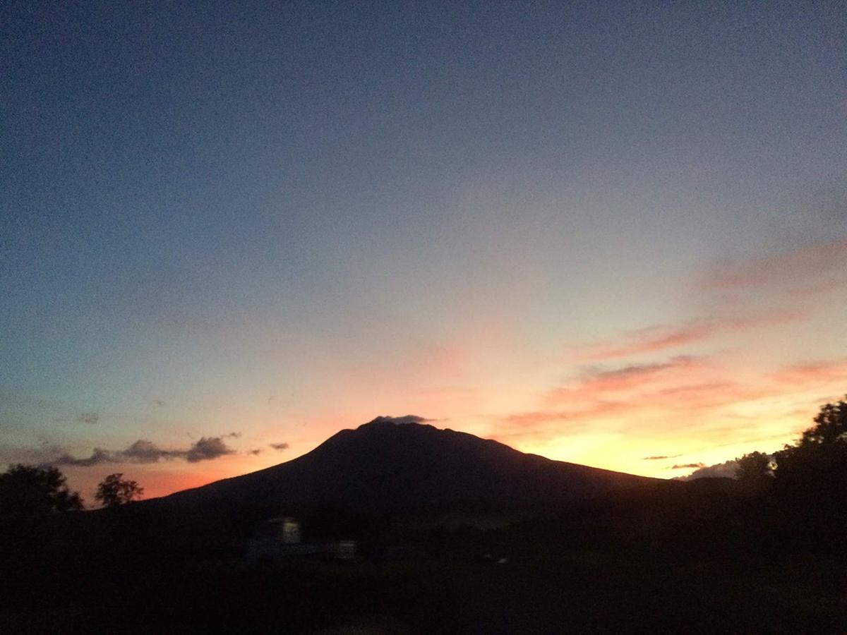 岩木山の夕焼け