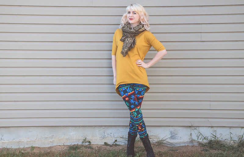 What I Wore: LuLaRoe Leggings & Irma Top