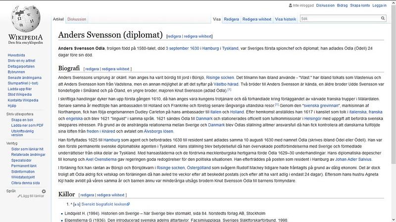mer om svensk spionsjef