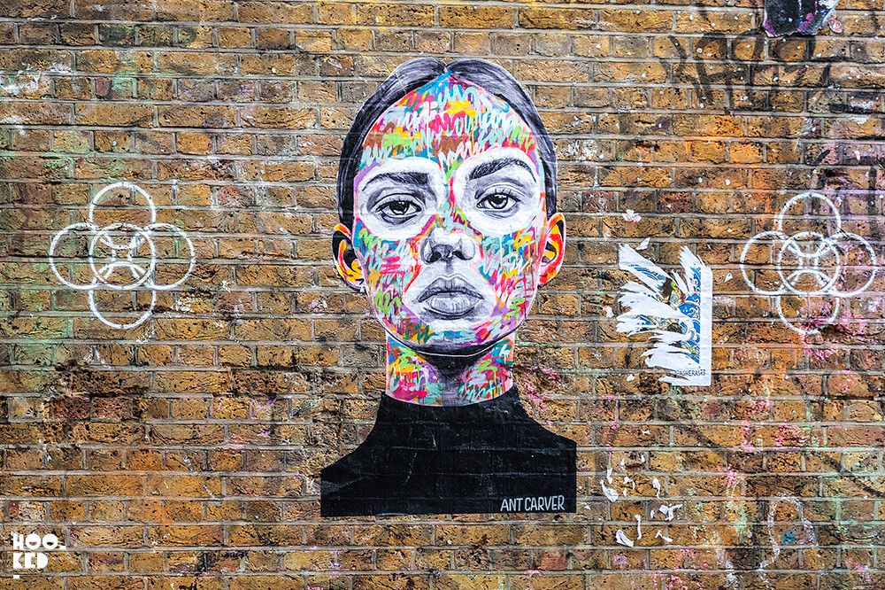 Antcarver, Street Art pasteups in London. Photo ©Hookedblog / Mark Rigney
