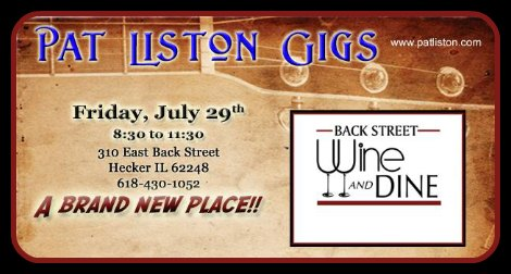 Pat Liston 7-29-16