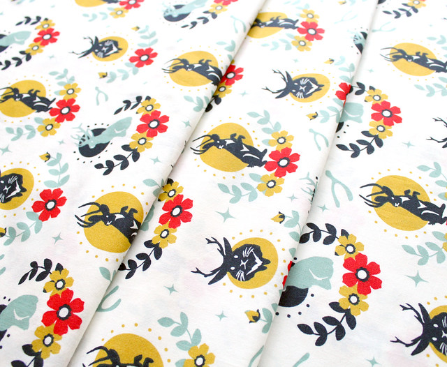 Birch Fabrics Tall Tales Jackalope Cream