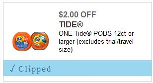 Tide Pods 12ct Printable Coupon