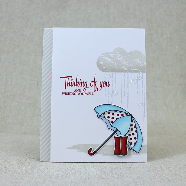 Rainy Thinking Of You Card