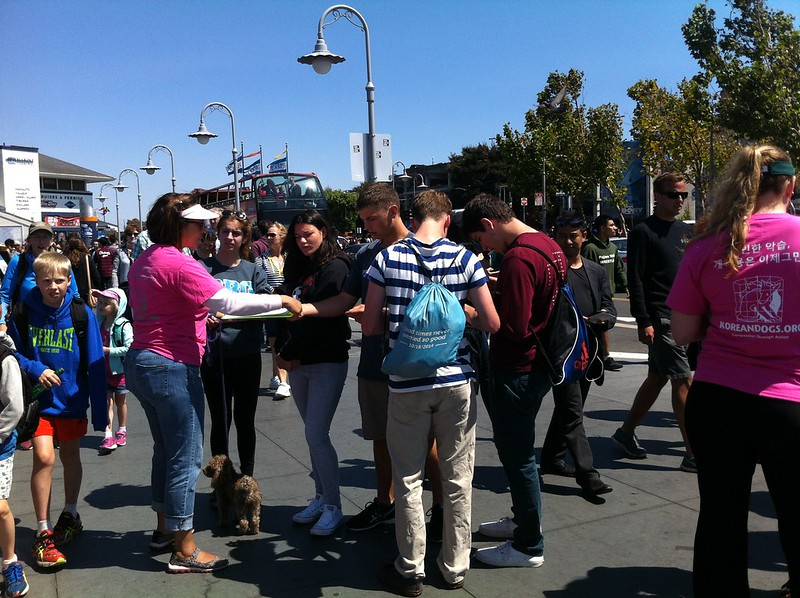 San Francisco, Fisherman's Wharf Leafleting Event – August 13, 2016