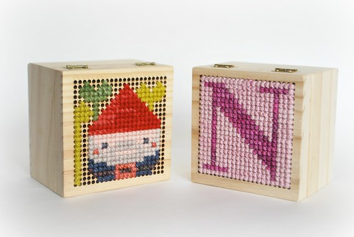 Cross stitch boxes