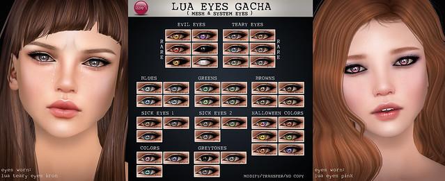 Lua Eyes Gacha (soon @ The Epiphany)