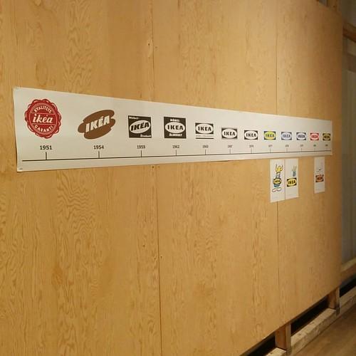Logos through time #toronto #designexchange #ikeacan40 #financialdistrict #ikea #logos