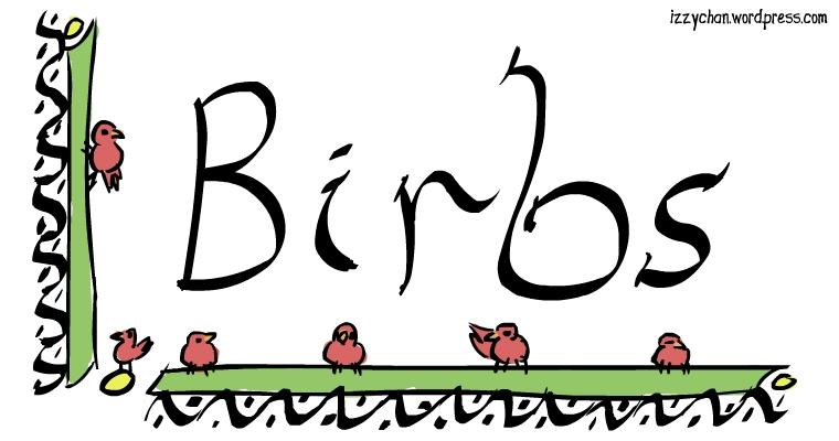 calligraphy illumination birds