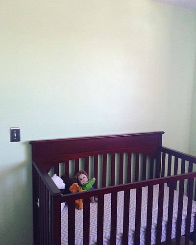 Got the baby room painted. I think it needs a cute border, though. Dinosaurs?