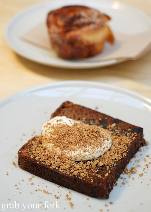 Sticky date banana loaf at Rising Sun Workshop, Newtown