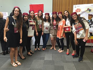 Amel Gouila and the Born to Tech Tunisia Team, Technovation World Pitch Summit 2016