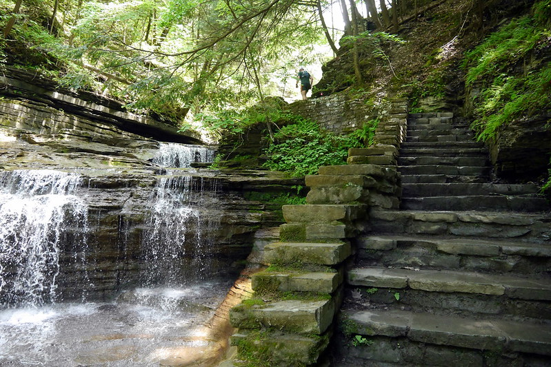 Stairs and Waterfall