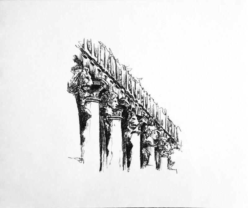 Kleeman drawings NReid-2002 (3) Sansovino's Library  Venice