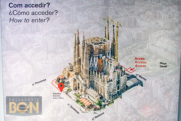 acesso a Sagrada Familia