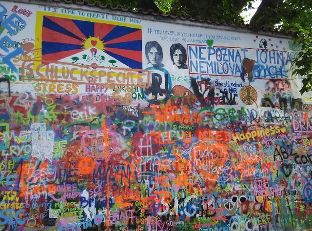 布拉格 列儂牆