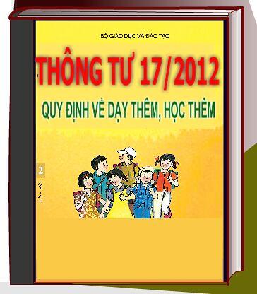 THÔNG TƯ số 17/2012/TT-BGDĐT: Ban hành quy định về dạy thêm, học thêm