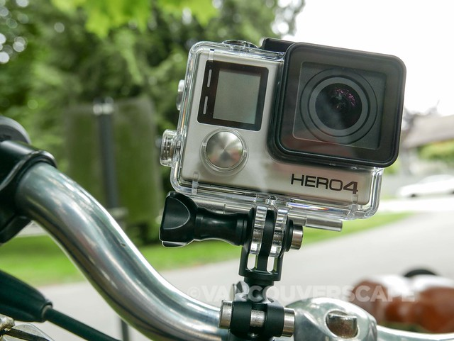 GoPro Handlebar Mount in action