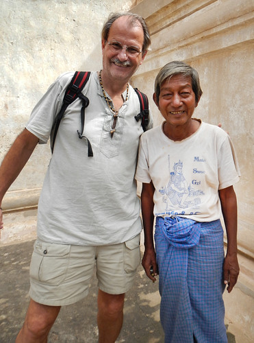 Old man that acted as our guide at Ananda Temple in Bagan, Myanmar