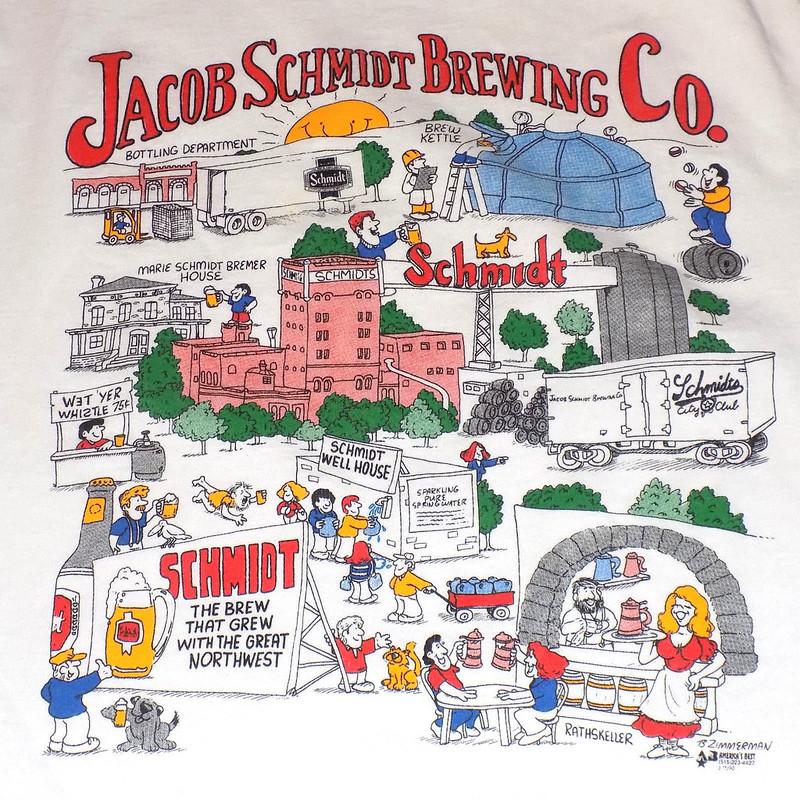Jacob-Schmidt-Brewing-Company-T-Shirt-XL-Beer-Vintage
