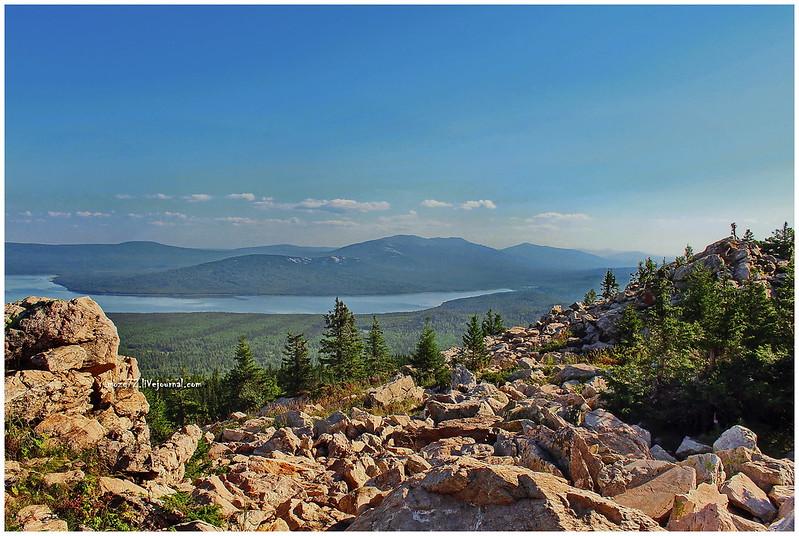 ...lake Zyuratkul, a view from the ridge