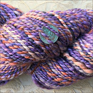 Oxidized Purple handspun, close up