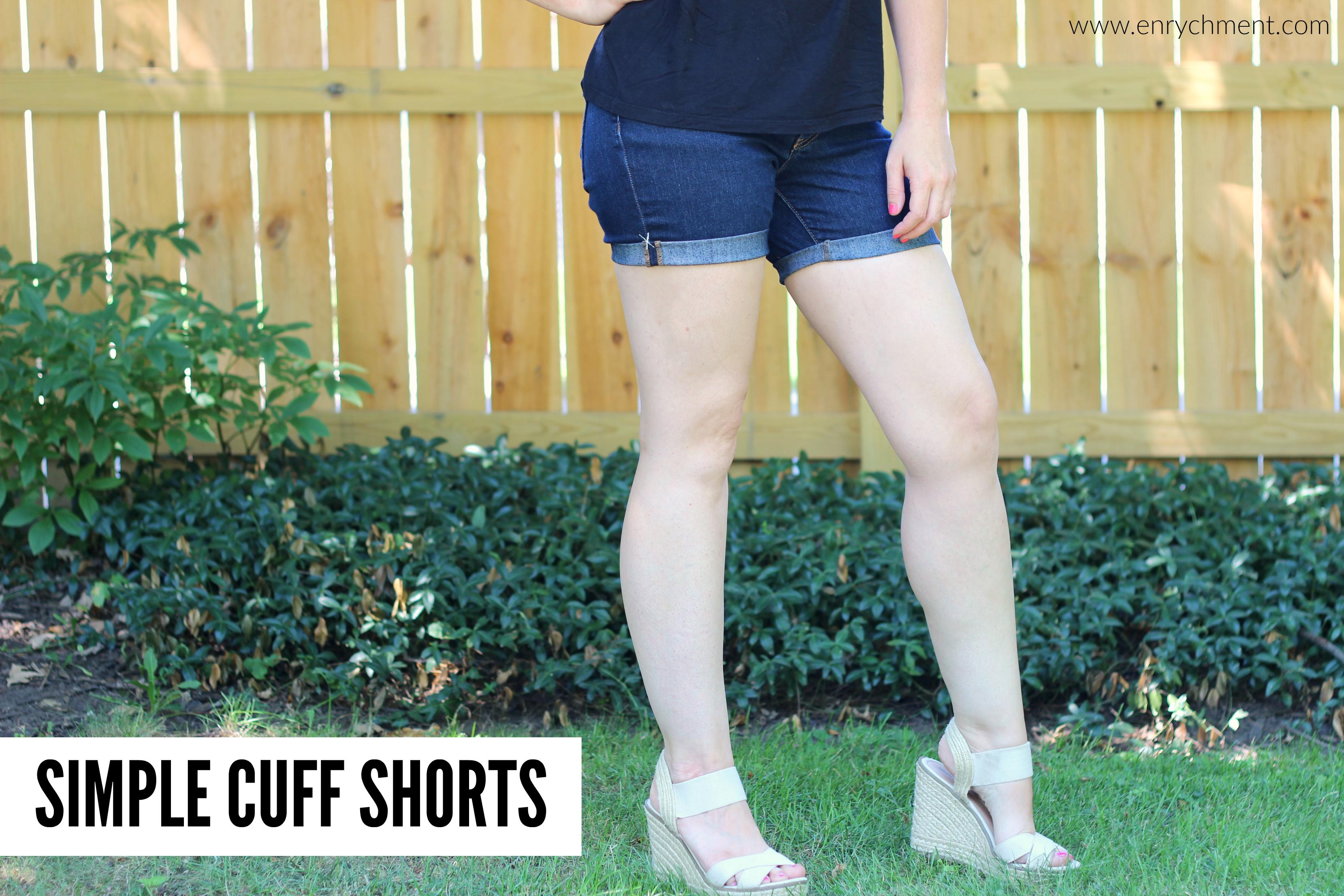 simple cuff shorts