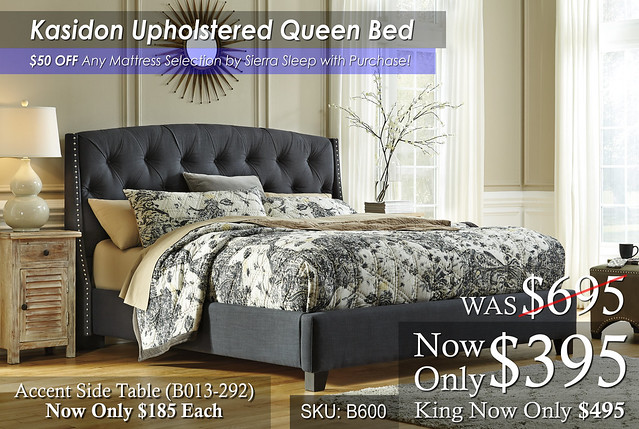 Kasidon Upholstered Bed SPECIAL