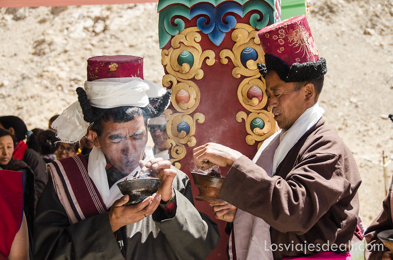 valle del indo celebración en el monasterio de Liker