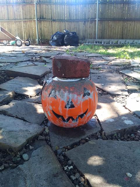 Jack o lantern planter