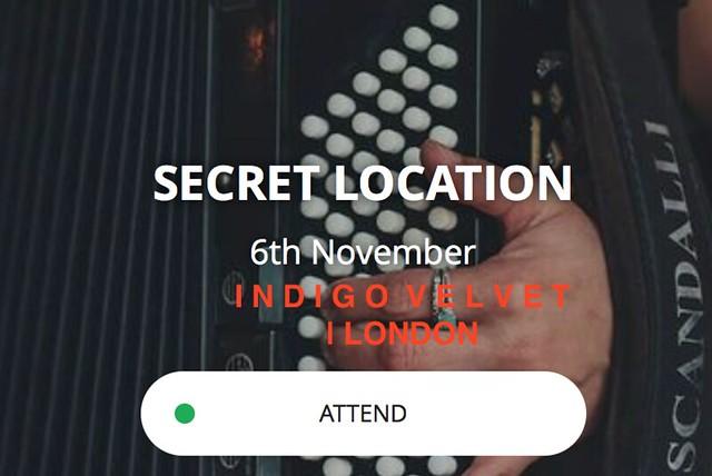 Indigo Velvet, London, 6 November 2016