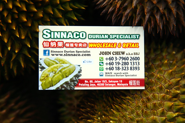 Sinnaco Durian Specialist Shop Petaling Jaya