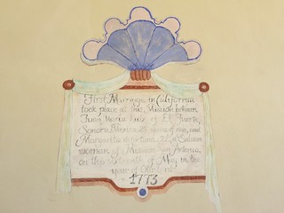 1773 First California Marriage, Mission San Antonio de Padua, Jolon California