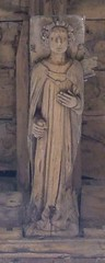 Methwold, Norfolk, St George, angel in roof