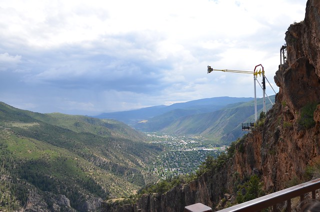 The giant swing, from Exclamation Point, Glenwood Caverns Adventure Park