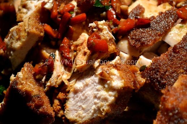 Poulet Pané au Tandoori Condiment Poivrons Grillés © Ana Luthi Tous droits réservés 014