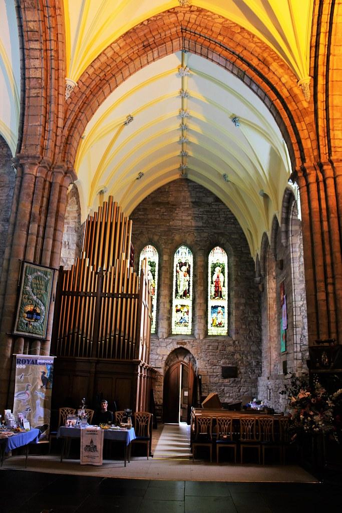 Inside Dornoch Cathedral, Sutherland, Scotland.