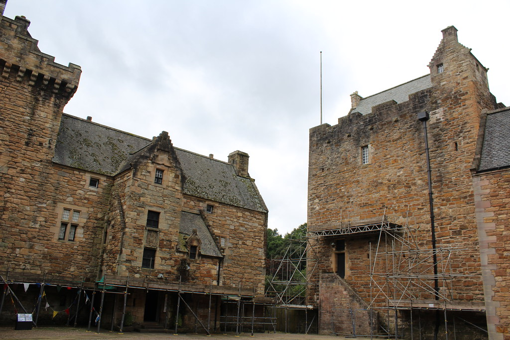 Palace and Tower at Dean Castle, Scotland.