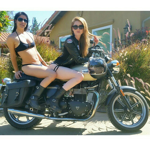 date white ladies motorcycle