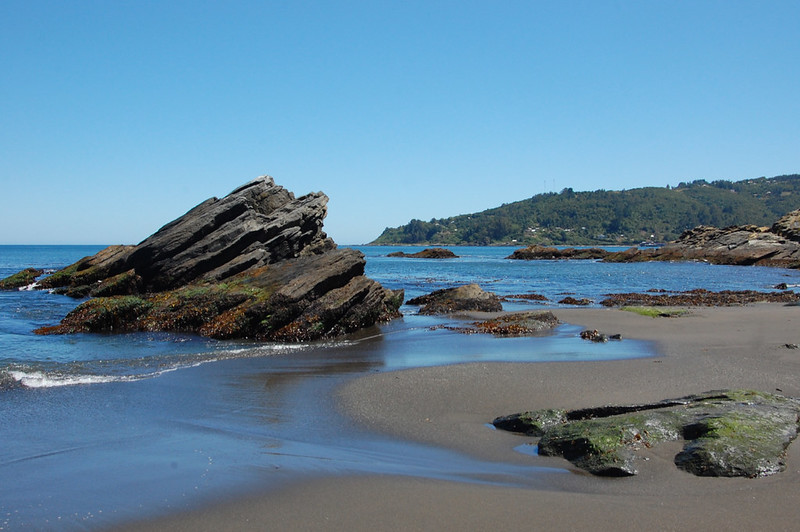 Beach in Niebla, Valdivia, Los Ríos, Chile