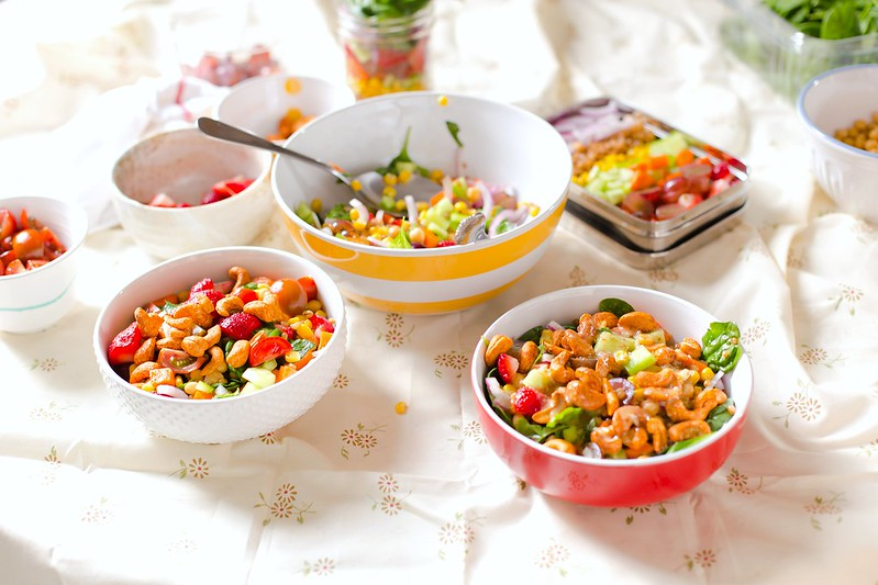 Chickpea Wheat Berry Salad