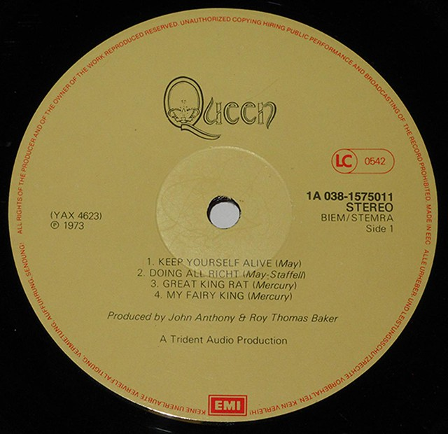 """QUEEN SELF-TITLED DEBUT 12"""" LP"""