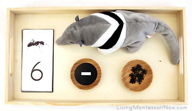 Ant and Anteater Subtraction Activity with Ants Beanie Baby