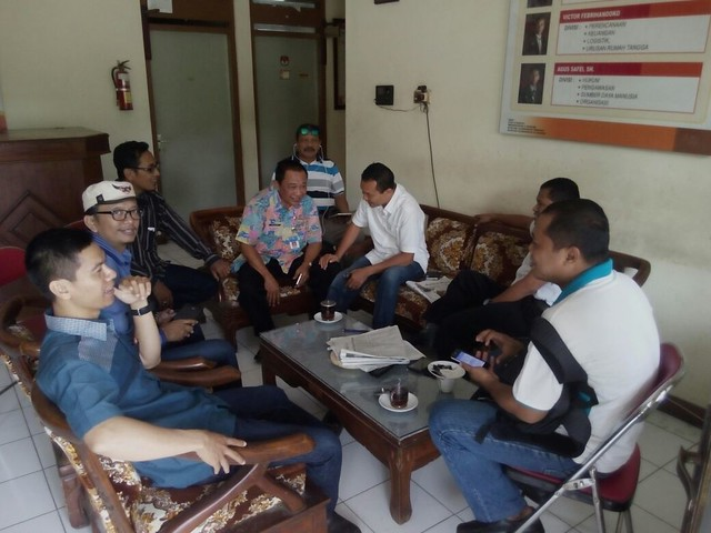 Kunjungan Staf Ahli Bupati Bidang Politik dan Hukum Pemkab Tulungagung, Mochammad Mafachir(20/7)