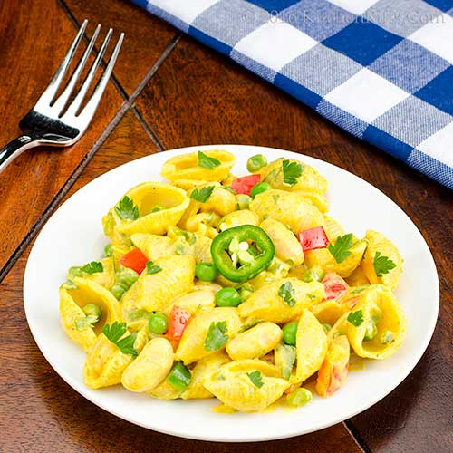 Curried White Bean and Pasta Salad