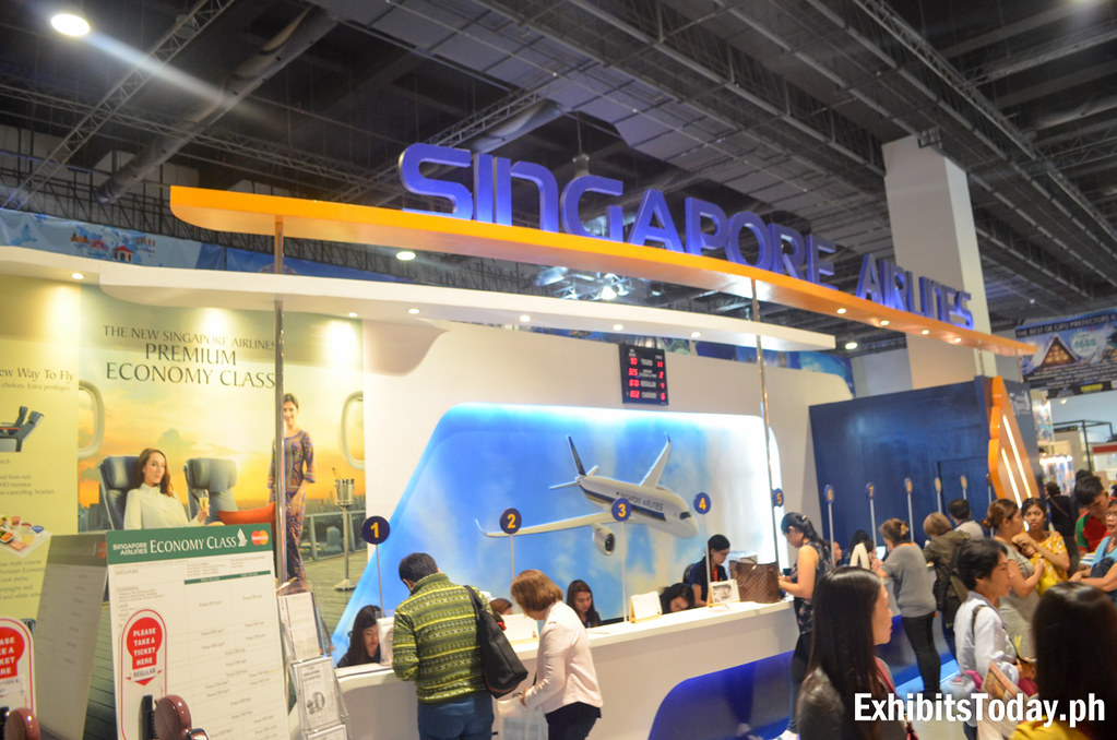 Singapore Airlines Exhibit Booth