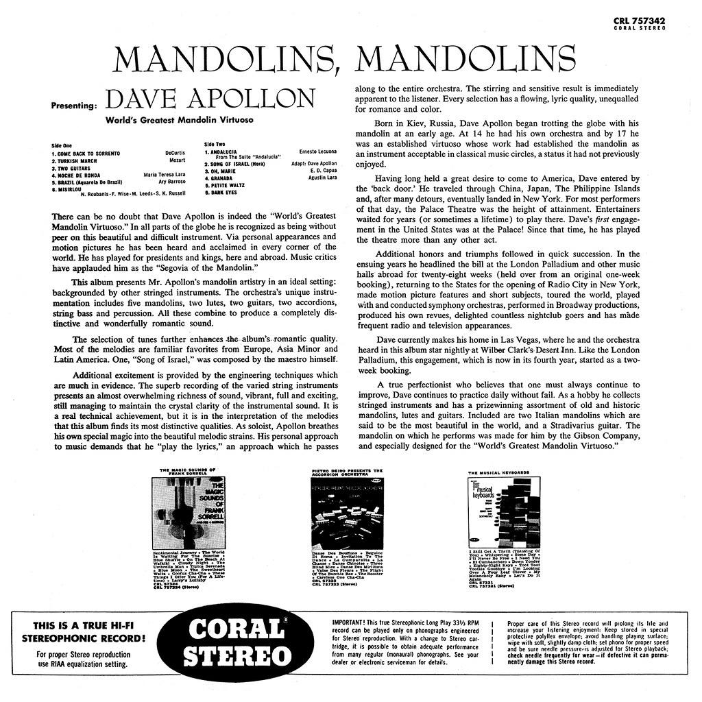 Dave Apollon - Mandolins!